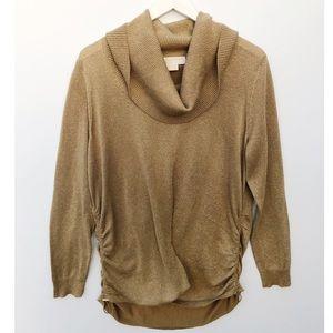 MICHAEL Michael Kors gold cowl neck sweater